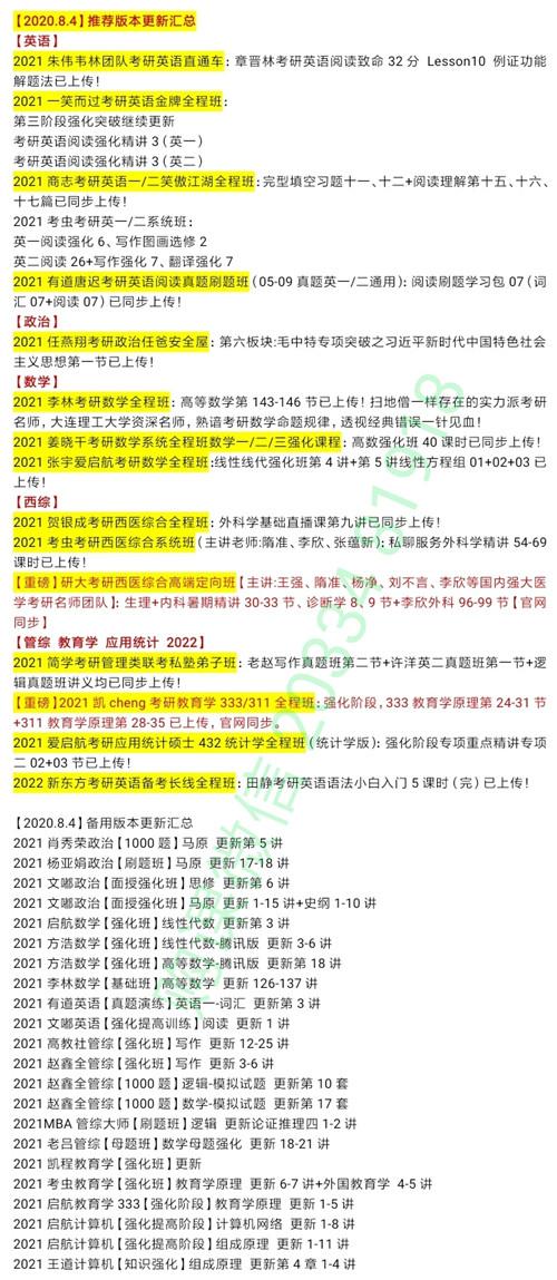 2021研大考研西医综合生理+内科暑期精讲+诊断学+李欣外科